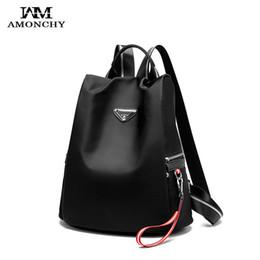 $enCountryForm.capitalKeyWord NZ - Large Traveling Shopping Women Backpacks Waterproof Oxford School Bag Female Striped Straps Backpack With Pendant Shoulder Bags