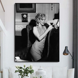 marilyn monroe canvas prints NZ - Marilyn Monroe Oil Canvas Painting Print Picture Modern Wall Art Oil Painting Poster For Living Room Bedroom Home Decor