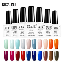 bottle paintings designs Australia - ROSALIND Gel Nail Polish 10ml White bottle 68 Color Solid Series For Vernis Design Painting Semi Permanant Soak Off UV Gel