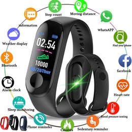 smart track Australia - Smart Sport Watch Blood Pressure Heart Rate Monitor Clock Fitness Band Sleep Tracking Call Reminder Waterproof pk xiaomi M3