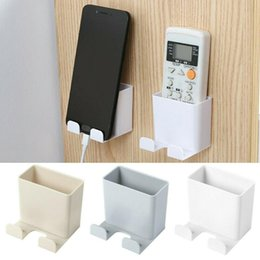 wall mount phone holder 2020 - Air Conditioner Remote Control Mobile Phone Holder Case Wall Mount Storage Box cheap wall mount phone holder
