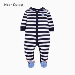 roupas bebe animal UK - Near Cutest Newborn Romper Long Sleeve Cotton Animal Baby Boy Girl Clothes Infant Jumpsuit Roupas De Bebe Infantil J190525