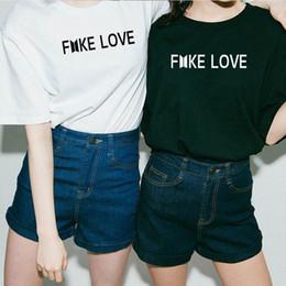 $enCountryForm.capitalKeyWord Australia - Kpop Bts Fake Love Unisex T Shirt Men Woemn Cotton Short Sleeve Korean Love Yourself Bts T-shirt Funny Graphic Printed K-pop Tee Y19042101
