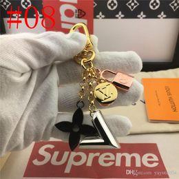 $enCountryForm.capitalKeyWord Australia - 19ss ITALY LOGO Brand Bag Charm Keychain Key Ring Genuine Leather with box top quality metal