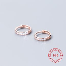 $enCountryForm.capitalKeyWord Australia - fashion jewelry gift 925 sterling silver factory wholesale cz earring circle design hoop huggie earrings import jewelry from china