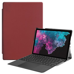 """Keyboard For Surface Australia - 30PCS Surface Pro 6 Leather Case (Can Put Keyboard) Flip Cover with Pencil Holder for Microsoft Surface Pro 4 5 12.3""""+Stylus"""