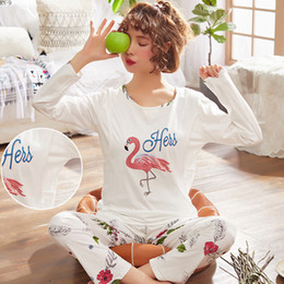 20e8626eaef044 RN-9New Still-Kleidung Mutterschaft Herbst Pyjamas Baumwolle Schwangere  Pyjama Langarmshirts Hose Set Winter Nachtwäsche Nachthemd