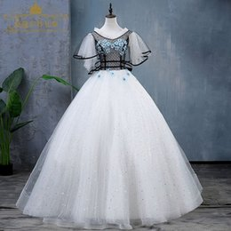 0c9b894188 white star sequin black net butterfly sleeve stage fairy ball gown medieval  dress Medieval Renaissance Gown queen cosplay Victoria dresspin