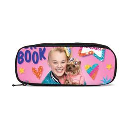 $enCountryForm.capitalKeyWord Australia - Kawaii Jojo siwa Cosmetic Bags 3D Printing Student Pencil Case Bags Kids Boys Pen Pouch School Supplies Stationery Makeup