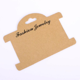 Retro Brown Necklace Card Jewelry Bracelet Necklace Display Earring Favor Marking Garment Prices Label Tags