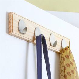 $enCountryForm.capitalKeyWord Australia - 1 Pc Wall Mounted Hook Rack Over the Door Hook Key Coat Organizing Rack Towel Hanging Tool with 4 Hooks for Living Room Bedroom
