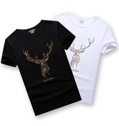 mens shorts 7xl Australia - Fashion Men's T-Shirts Rhinestones Animal Mens Shirts European and American Styles Men's Short-sleeved T Shirt 4 Styles Size S-7XL