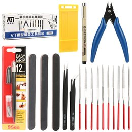 Wholesale Model Building Tools Combo For Gundam Tools Hobby Model DIY Accessories Craft Building Grinding Set