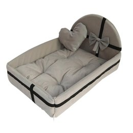 Cute Cat bedding online shopping - Warm wool dog bed sizes round cute plush cushion for small medium large dogs cat Tyteps Winter Kennel pet mat