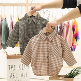 $enCountryForm.capitalKeyWord Australia - Fall INS Toddler Baby Kids Boys Plaid Shirts Long Sleeve Turn-down Collar Front Designs Pocket Stylish Front Buttons Autumn Children Clothes