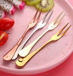 Meyve Çatal Lüks Paslanmaz Çelik Altın Kek Tatlı Forks Güzel Mini Çatal Kek Kullanılan Parti Salyangoz Çatal Restoran Mutfak b ...