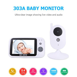 Free Shipping 303A Baby Monitor Wireless Video Baby Monitor 3.5 Inch Color Security Camera 2Way Talk NightVision Baby Room Safe Monitoring on Sale