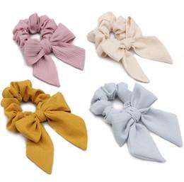 Diy hair holDer online shopping - Girls Bows hair scrunchie DIY children plaid ribbon Bows elastic headband ponytail holder kids lace up Bows princess headdress F9953