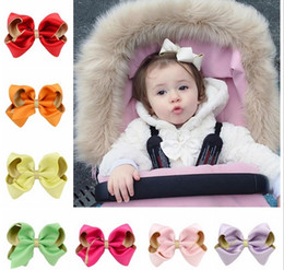 $enCountryForm.capitalKeyWord NZ - Fashion Popular Mix Color Children Boutique Hair Clip Glitter Polyester Double Bow Hairpin Baby Girl Head Accessories 655