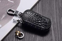 Vintage Car Prints NZ - 2019 best Real Crocodile Claw Leather Keychain Vintage Fashion Men Women Car Key Wallet Ring Chain Holder Pendant Keyring Male