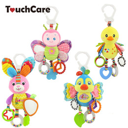 Baby Rattles Australia - Baby Rattles & Mobiles TouchCare Cartoon Animal Baby Rattles Mobile Plush Toys Soft Teether BB Bell Ring Paper Stroller Infant Car Bed