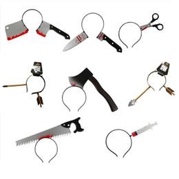 $enCountryForm.capitalKeyWord Australia - 2019 Halloween Three-dimensional Hair Accessories Tidy Simulation Toy Plastic Head Knives Scissors Decoration Props Cosply Costumes
