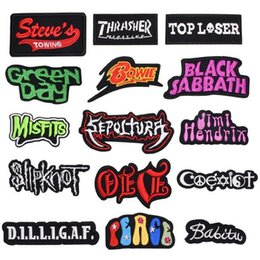 8P-34 High quality Wards Iron On Patches Black Sabbath sew on patch for clothing can customer design Bowie from tool mounting manufacturers