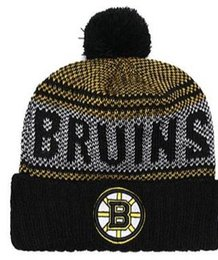 Military Green Army Beanies NZ - Discount price Sport Knit hat BRUINS Beanie Football Sideline Cold Weather hats Fashion beanies winter Warm Knitted Wool Skull Cap