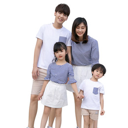 5382ed5e71 Family Matching Clothes Mother Daughter Dresses Casual Clothing Family Look  Dress Father son matching clothes Outfits Summer