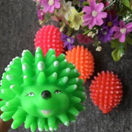 Wholesale Hedgehog Toys Australia - Pets Toys Hedgehog Pets Gogo Toys Lovely Hedgehog Sound The Ball Elasticity Colour Hedgehog