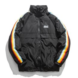 Mens Black Parkas Australia - 2019 Winter Jacket Men Hip Hop Parka Hombre Jackets Coat Mens Thick Warm Parkas Fashion Clothing Streetwear Blue Black Ws673