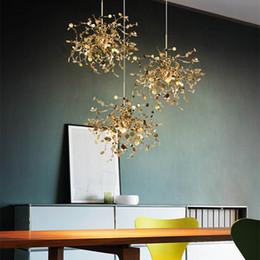 Store energy online shopping - Modern LED Stainless Steel Chandelier Lamp Art Chandelier Lighting Metal Hanging Light for Home Restaurant Store Decoration