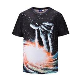 galaxy clothes shorts 2019 - 2019 New Cool Galaxy Space T-shirts Funny 3D T-shirt Boho Hip Hop Mens Clothing China Galaxy Shirts Chinese Printed Tee