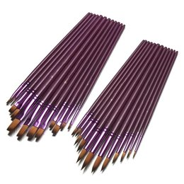 Brush Paintings Australia - New Arrival 12pcs lot Different Size Artist Fine Nylon Hair Paint Brush Set For Watercolor Acrylic Oil Painting Brushes Drawing Art Supplies