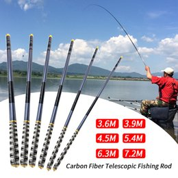 Discount power poles - 3.6m-7.2m Carbon Fiber Fishing Rods Portable Hand Power Pole For Carp Fishing Tackle High Quality River Lake Pole