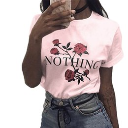 Wholesale Women Fashionable Tops Australia - Womens Shirt Rose Printing Summer Loose Tops Short-Sleeved Blouse T Shirt By Fashionable Women 2019