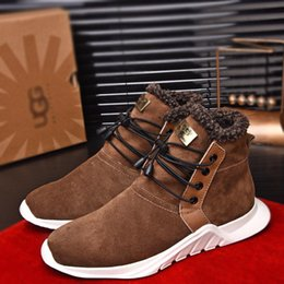 Boot Lining Australia - 2019 New Fashion Brand Designer Mens Casual Shoes High Cut Real Leather Wool Lining Warm Ankle Mans Boots 3A Quality Stylish Shoes 3A A2