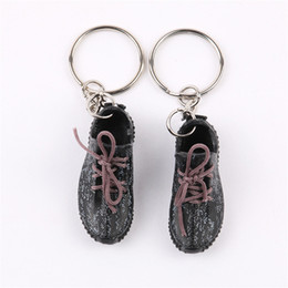 $enCountryForm.capitalKeyWord Australia - a Pair 3D Sneaker Keychains Mini Right and Left Feet Key Chains For Bag Wallet Cell Phone Straps Backpack 11 Style