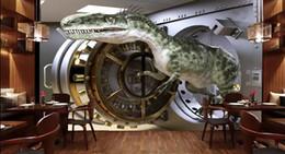$enCountryForm.capitalKeyWord Australia - WDBH 3d wallpaper custom photo Space dinosaur through the wall tv background living room home decor 3d wall murals wallpaper for walls 3 d