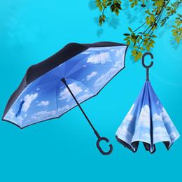 $enCountryForm.capitalKeyWord Australia - Reverse Double Standing Umbrella Hands-Free Type C Standing Car Custom LOGO aAdvertising Rain Gear Eight Bone Straight Umbrella 57