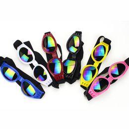 China 20pcs lot Pet Dog Folding Sunglasses Ajustable Size Plastic Foldable Pet Dog Sunglasses Mixed Colors Available suppliers