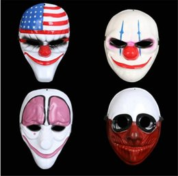 classic plastics Australia - PVC Halloween Clown Mask Electroplating Unisex Mask Cosplay Costume Movie Stars Party Stage Clown Plastic Mask