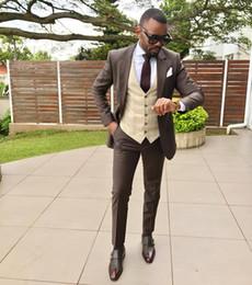 mens plus size blazers 2019 - Wedding Tuxedos 2019 Formal Mens Blazer Suits High Quality Custom Made Three Pieces Suits (Blazer+Pants+Vest) Business M