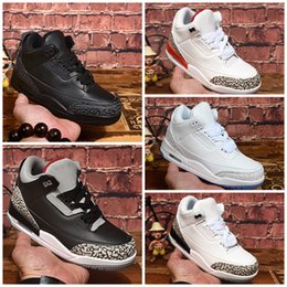 basketball shoes for girls Australia - Cheap Jumpman 3s basketball shoes retro j3 White cement Monday Rio Teal j3 sneakers for youth kids boys girls