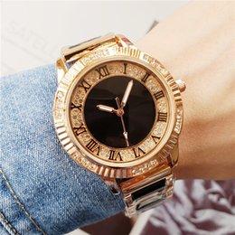 Luxury Women Wrist Watch Australia - New Famous Luxury Crystal Dial Bracelet Quartz Wrist Watch Christmas Gift for Ladies Women Gold Rose Gold Silver Wholesale Free Shipping