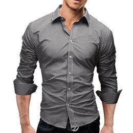 Plus La Taille Hommes Chemises De Créateur Impression Plaid À Manches Longues Col Rabattu Hommes Chemises Nouvelle Arrivée Adolescent Vêtements en Solde