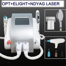 China 3 in 1 portable Q switched nd yag laser tattoo removal IPL SHR hair removal pigment removal laser machine cheap q switched nd yag laser hair suppliers