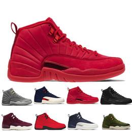b39168cd5de171 12 12s Gym red WNTR mens Basketball shoes Michigan International Flight  College Navy Flu Game Graduation Pack men sports sneakers designer