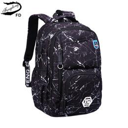 $enCountryForm.capitalKeyWord Australia - FengDong new 2018 fashion school backpack boys school bags for kids waterproof fabric children backpacks men laptop computer bag