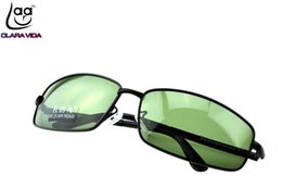 tac polarized 2019 - =CLARAVIDA=2017 Masculine FULL RIM BLACK TAC Enhanced Polarization polarized square green lenses driving fishing sunglas